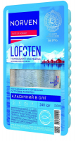 Оселедець Norven філе в олії з блакитною сіллю 250г