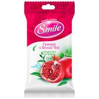 Серветка волога Гранат і Білий чай SMILE 15шт