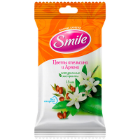 Серветка волога Квіти апельсина і Аргана SMILE 15шт