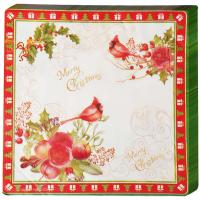 Серветки паперові Новорічна колекція 33*33см арт.924-155