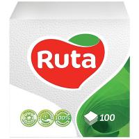 Серветки паперові столові Ruta 24*24см Білі, 100 шт.