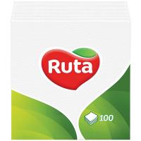 Серветки паперові столові Ruta 33*33см Білі, 100 шт.