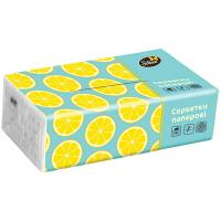 Серветки Silken паперові у плівці Лимони 2шар 150шт