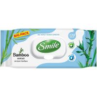 Серветки вологі гігієнічні Smile Bamboo Extract, 120 шт.