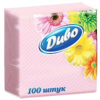 Серветки Диво паперові 33*33см 100шт. рожеві