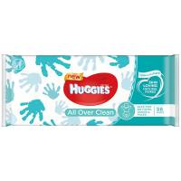 Серветки вологі Huggies All Over Clean 56шт.