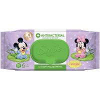 Дитячі вологі серветки антисептичні Smile Baby Antibacterial, 60 шт.