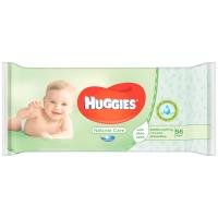 Серветки вологі Huggies Natural Care 56шт.