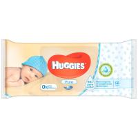 Серветки вологі Huggies Pure 56шт.
