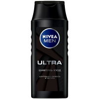 Шампунь-догляд для волосся Nivea Men Ultra для чоловіків Тривала Свіжість та Чистота, 250 мл