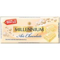 Шоколад Millennium пористий білий 90г