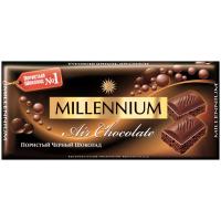 Шоколад Millennium пористий чорний 90г