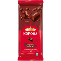Шоколад Корона чорний пористий 80г