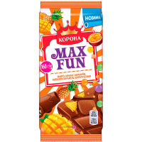 Шоколад Корона MaхFun манго-ананас-маракуйя 160г
