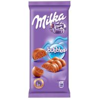 Шоколад Milka Bubbles молочний пористий 80г