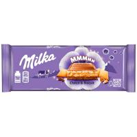 Шоколад Milka мол. з шокол. і молочн. нач. і печивом 300г