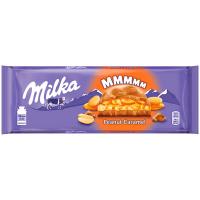 Шоколад Milka молочний з арахісом та карамеллю 276г
