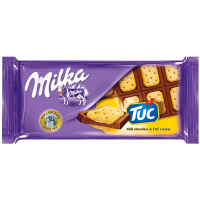Шоколад Milka молочний з солоним крекером ТУК 87г