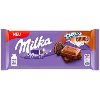 Шоколад Milka молочний зі шматочками печива Oreo 100г