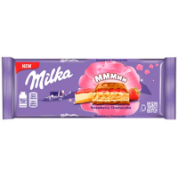Шоколад Milka полуниця чізкейк та печиво 300г