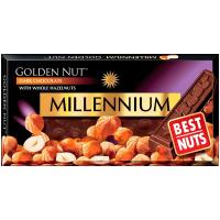 Шоколад Millennium чорний з горіхом 100г