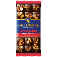 Шоколад Millennium Fruits&Nuts чорний 80г
