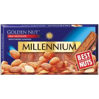 Шоколад Millennium Gold молочний з мигдалем 100г
