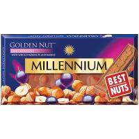 Шоколад Millennium Golden Nut молочний родзинки-горіхи 100г