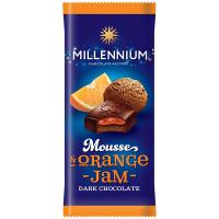 Шоколад Millennium Mousse чорн з мус. і апельс.нач. 135г