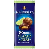 Шоколад Millennium Mousse Lime-Jam чорний 135г