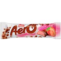 Шоколад Nestle Aero молочний та білий пористий полуниця 30г
