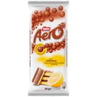 Шоколад Nestle Aero молочний та білий смак лимона 90г