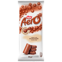Шоколад Nestle Aero пористий молочний 90г
