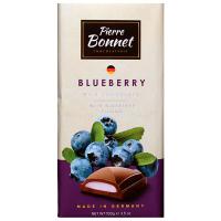 Шоколад Pierre Bonnet молочний з чорничною начинкою 100г