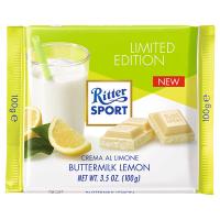 Шоколад Ritter Sport білий з йогурт.-лимонною нач. 100г