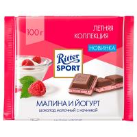 Шоколад Ritter Sport з йогурт. малинова крошка 100г