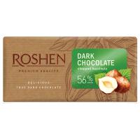 Шоколад Roshen екстрачорний з подріб.ліс.горіхами 90г