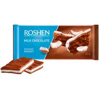 Шоколад Roshen молочний з кокосовою нугою 90г