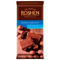Шоколад Roshen молочний з цілими лісовими горіхами 90г