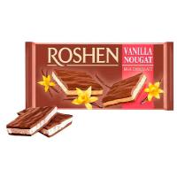 Шоколад Roshen молочний з ванільною нугою 90г