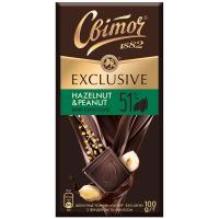 Шоколад Світоч Exclusive Hazelnut&Penaut 100г