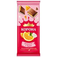 Шоколад ТМ Корона апельсин-крем 85г