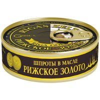 Шпроти Riga Gold в олії ж/б ключ 160г