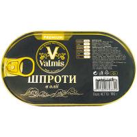 Шпроти Valmis Premium в олії 190г