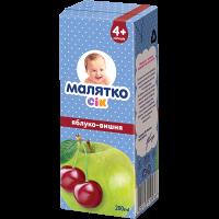 Сік Малятко яблуко-вишня (ТВА) 200 мл