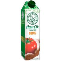 Сік Наш сік томатний з м`якоттю 950мл