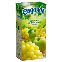 Сік Садочок Яблучно-виноградний 1,93л