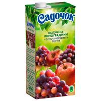 Сік Садочок Яблучно-виноградний з  червоних сортів 0,95л