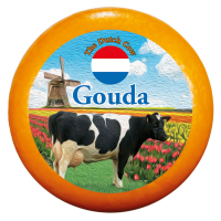 """Сир """"Гауда"""" 48% ТМ """"Dutch Cow"""" Нідерланди ваг"""