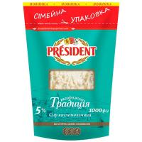 Сир кисломолочний President Творожна Традиція 5% пак. 1000г
